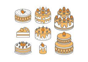 Vetores de bolos de morango