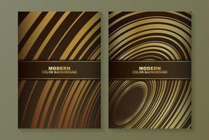 capa mínima em design redemoinho dourado vetor