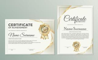 certificado profissional, diploma, design de prêmio vetor