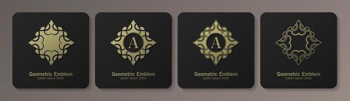 conjunto de emblemas ornamentais vetor