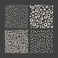 coleção de padrão de doodle desenhado à mão