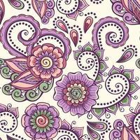padrão de flor ornamental roxa vetor