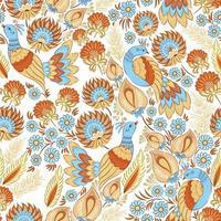 padrão ornamental sem costura com pássaros vetor