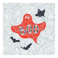 desenho de fantasma de halloween desenhado à mão