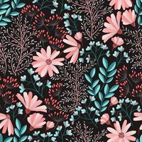 padrão floral rosa primavera vetor