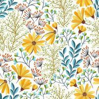 Primavera brilhante padrão floral vetor