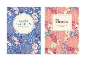 cartões florais da primavera vetor