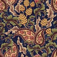 padrão floral vitoriano sem costura vetor