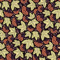 padrão ornamental sem costura em estilo folk com folhas vetor