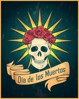 pôster colorido do dia dos mortos