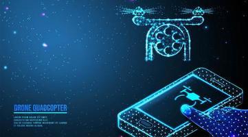 conceito abstrato drone smartphone vetor