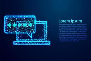 bate-papo online no design do laptop
