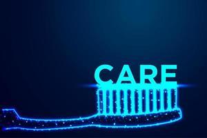 conceito de cuidados dentários de escova de dentes vetor
