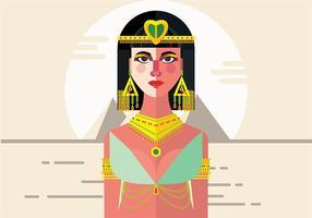 Fundo do vetor Cleopatra