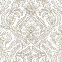 padrão ornamental floral de contorno marrom vetor