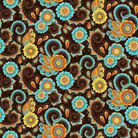 padrão uniforme paisagístico marrom, azul e laranja
