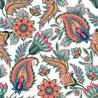 padrão paisley colorido sem costura vetor