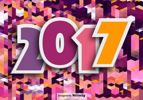 Fundo Feliz Ano Novo 2017 vetor
