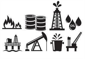 Ícones do campo petrolífero vetor