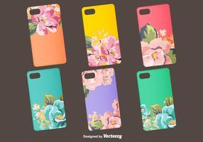 Projetos florais do caso do telefone do vetor