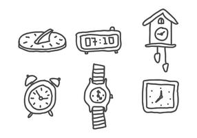 Conjunto de relógios vetor