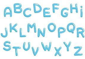 Vetores grátis de alfabeto de água