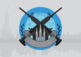 Molde da ilustração do emblema AR15 vetor