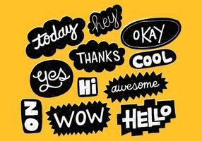 Bolhas de palavras desenhadas à mão vetor