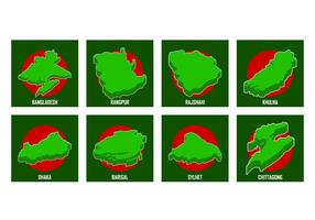 Livre vetor do mapa de Bangladesh