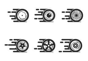 Vetor de roda de rotação livre