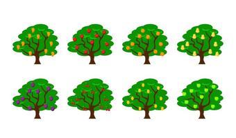 Ilustração vetorial grátis da árvore de frutas vetor