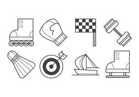 Vetor livre de ícones de material esportivo