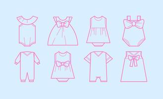 Vector de ícone de moda de bebê grátis
