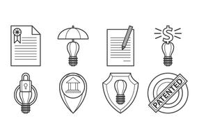 Vetor livre ícone de proteção de ideias