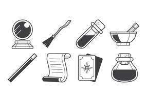 Vetor livre de ícones de coisas mágicas
