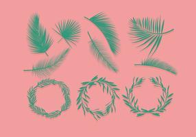 Vetor de domingo de palmeiras