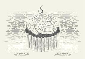 Cupcake saboroso do vetor livre