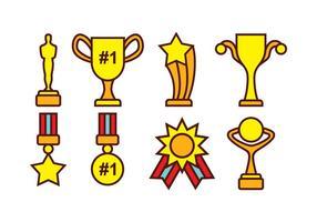 Pacote de vetores de prêmios e troféus grátis