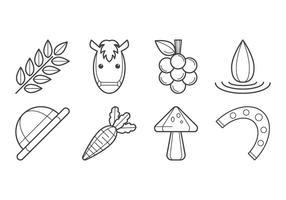 Vector de ícones Agrícolas grátis