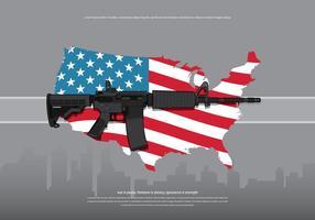 AR15 Ilustração do Exército da América vetor