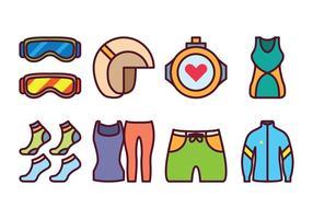 Conjunto de ícones de equipamentos desportivos gratuitos vetor