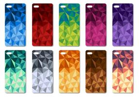 Vetor geométrico de design de caixa de telefone colorido colorido