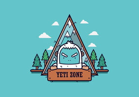 Emblema livre do vetor yeti