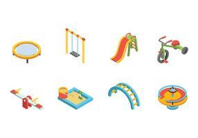 Vetor de playground de crianças grátis