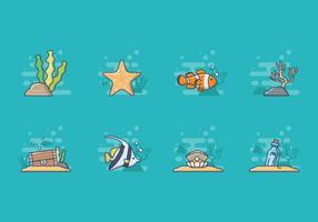 Vetor grátis da vida marinha
