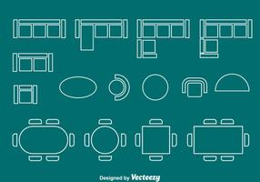 Floorplan element chair and table vector