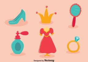 Vetor elemento elementar da princesa