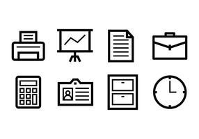 Conjunto de ícones de escritório grátis vetor