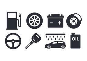 Conjunto de elementos de carro grátis vetor