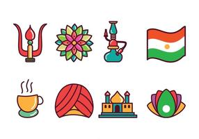 Ícones grátis da Índia vetor